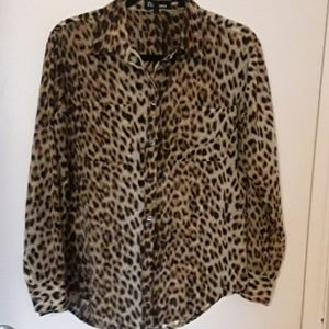 Leopard button down shirt